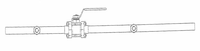 dual port ball valve for medical use