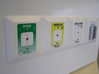 Ohmeda medical gas outlets for hospitals by Tri-Tech